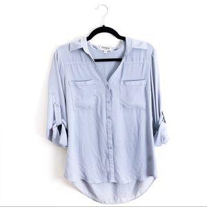 Express Pastel Blue Portofino Button Up Blouse